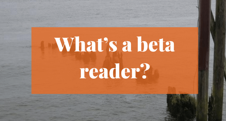 Picture of logs sticking out of water. Text says: What's a beta reader?