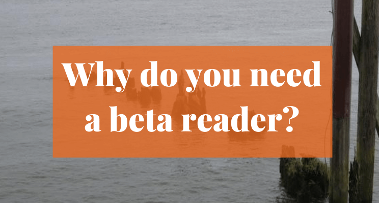 Picture of logs sticking out of water. Text says: Why do you need a beta reader?
